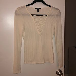 Forever 21- Long Sleeve w/ Crisscross Cutout